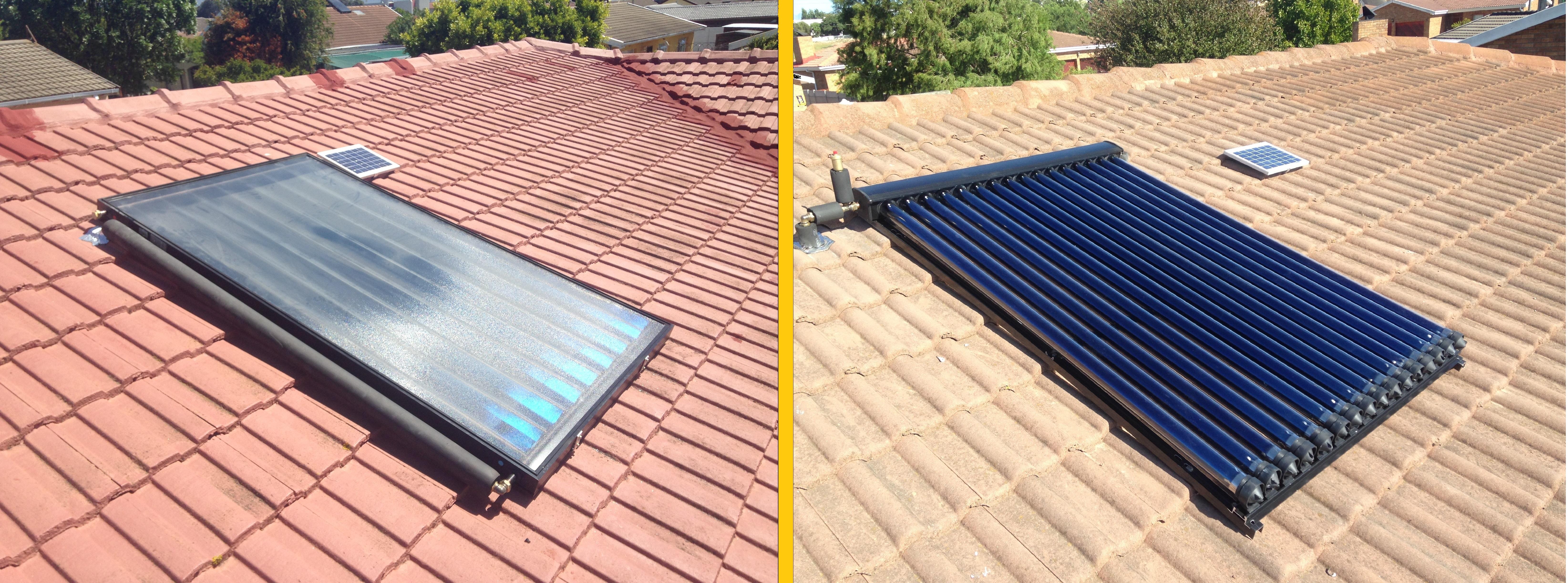 Solar Water Heating Geysers